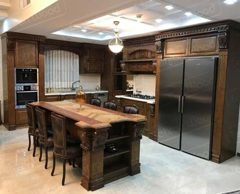 دکوراسیون ترمو وود آشپزخانه