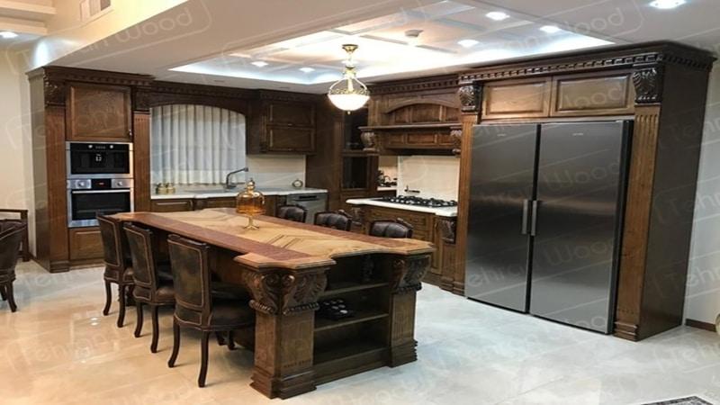 طراحی دکوراسیون آشپزخانه ترمووود