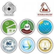 گواهینامه رنگ پایه آب بورما واکس
